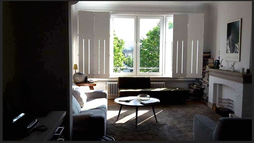 Retro Arty Farty 2 bedroom flat bright with a view - Antverpy - Byt