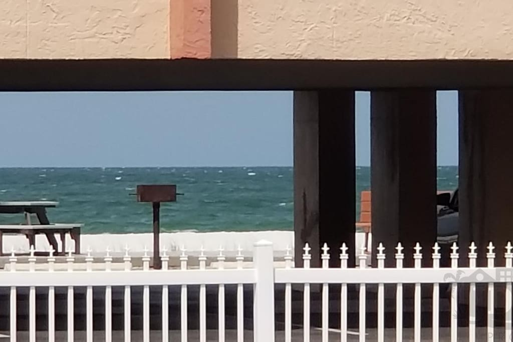 Beach view right from the front door!