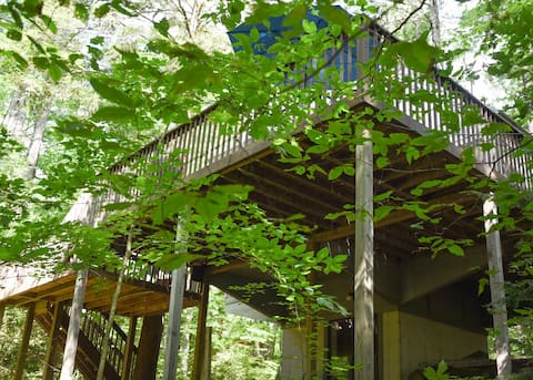 Treehouse cozy cottage on babbling brook