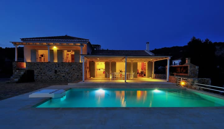 A luxurious villa with swimming pool