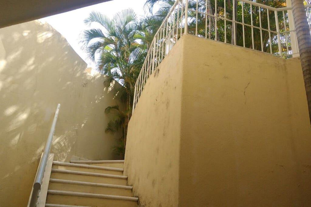 Está es la entrada de la casa