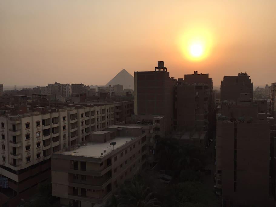 Balcony View Giza Pyramids