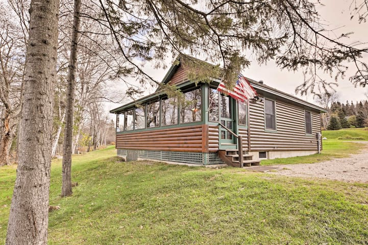 Rustic Rangeley Cabin on Lake w/Porch & Mtn Views!