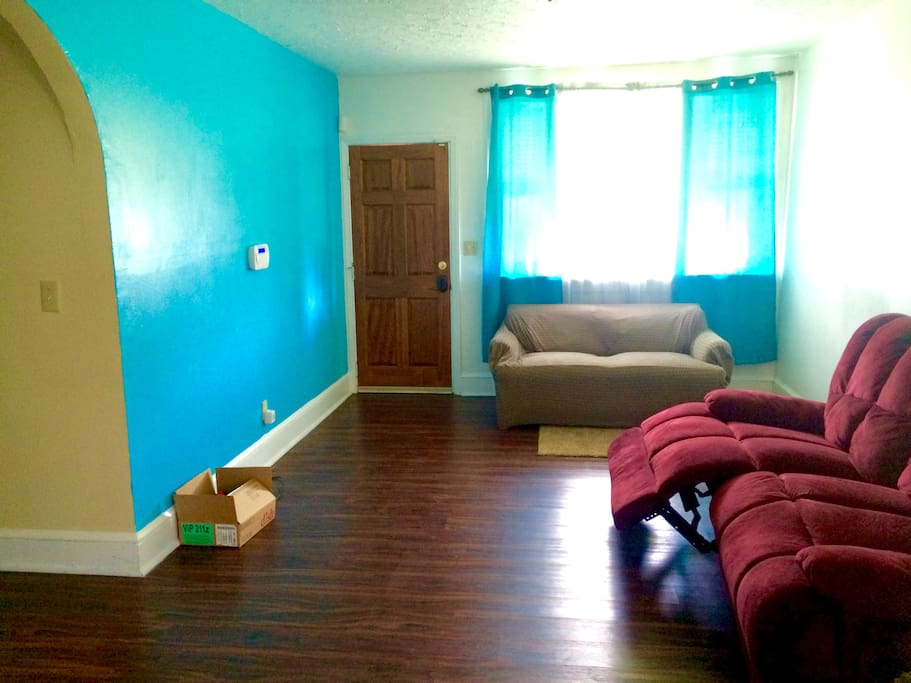 Living Room and Front Door Entrance