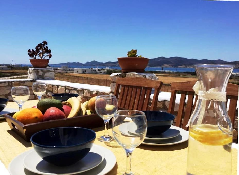 Main veranda| dining table