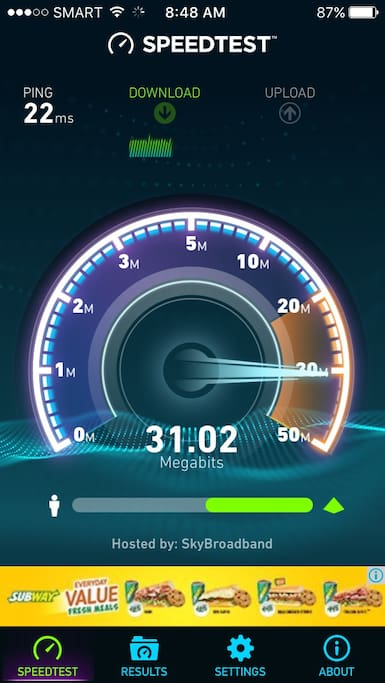 Fastest reliable unlimited internet available 32mbps.