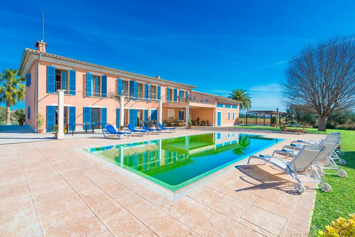 SA BLANQUERA - ADULTS ONLY - Villa with private pool in sa Pobla. Free WiFi