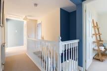 Upstairs landing view from Master bedroom doorway