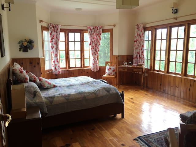 Lush green jungle view cottage in old Manali