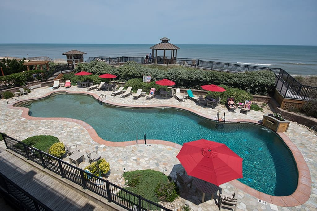 Oceanfront pool at Croatan Surf Club OBX
