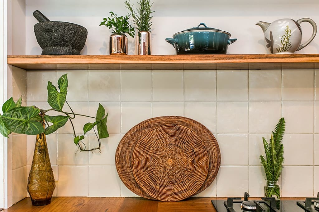 We love our newly renovated kitchen with all its recycled timber finishes.