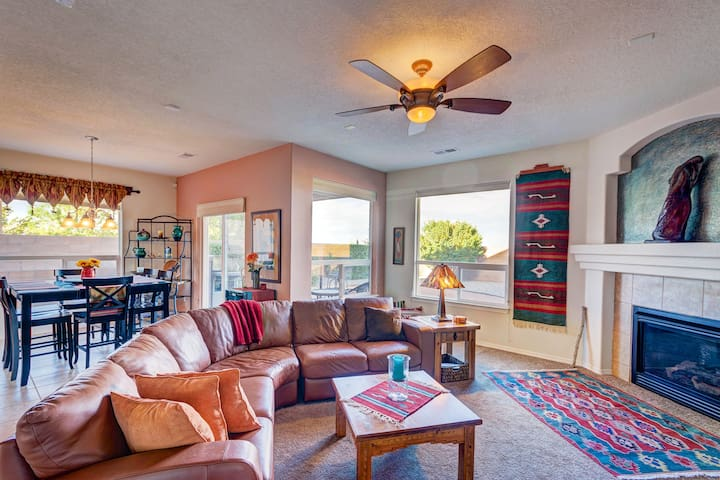 Awesome home with stunning views of the Sandia's.