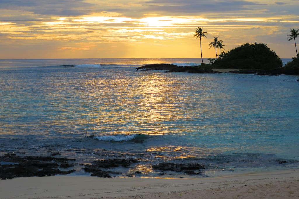 Sunset view from Fale
