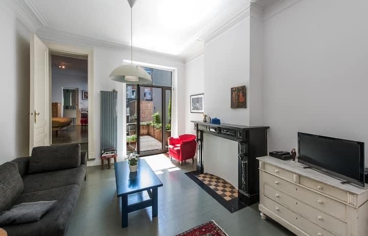 Charmante flat met veel licht en zonnig terras