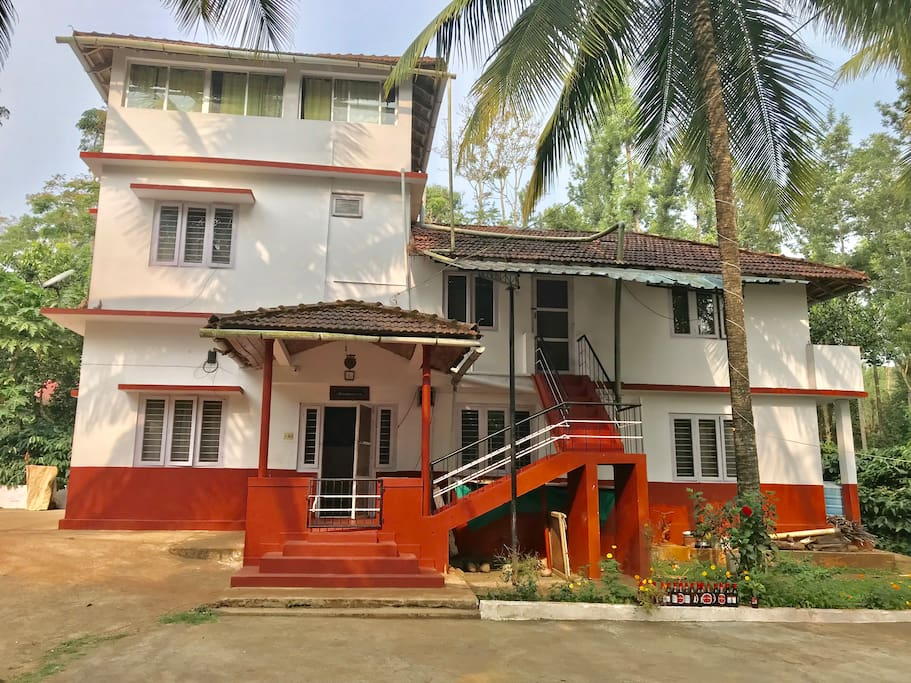Outback Coorg homestay full view , very private property surrounded by coffee estate
