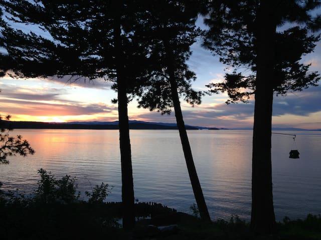 Watt Lake Cabin in Skidoo Bay on Flathead Lake