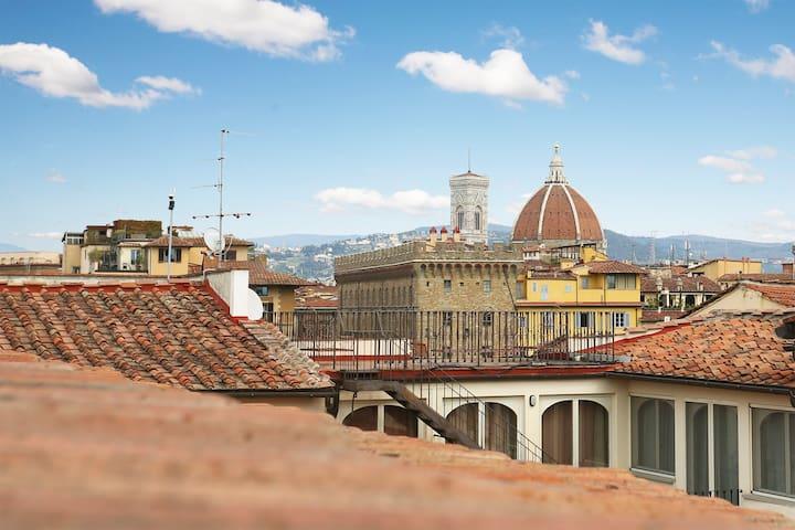 Little penthouse w/ great views by Ponte Vecchio
