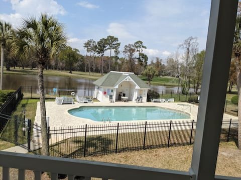Pool And Golf Views From this Beautiful 1 Bd Condo