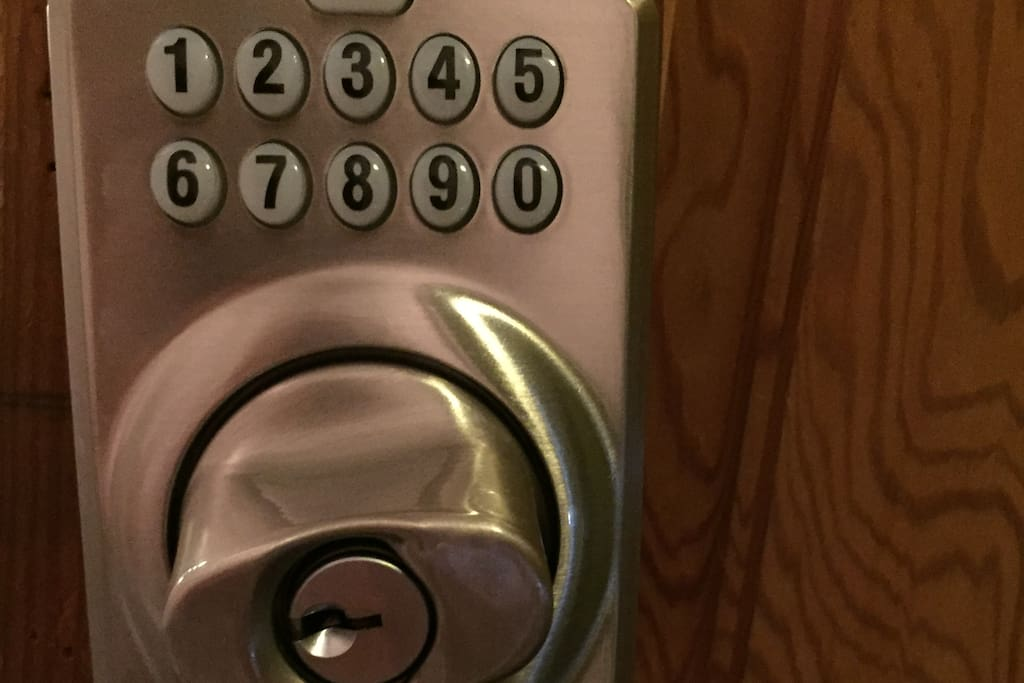 Keyless Coded Bolt Lock Entry to the Unit. (Key needed for main door to building)