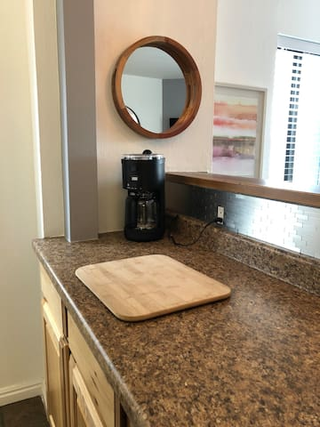 Coffee maker. French press available.