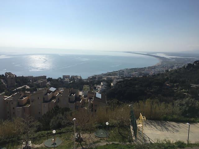 Maison entière 110m2 vue mer + jardin BASTIA/CARDO - Bastia - Huis