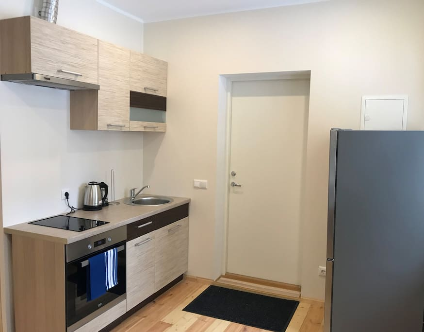 Your small kitchenette with needed utilities