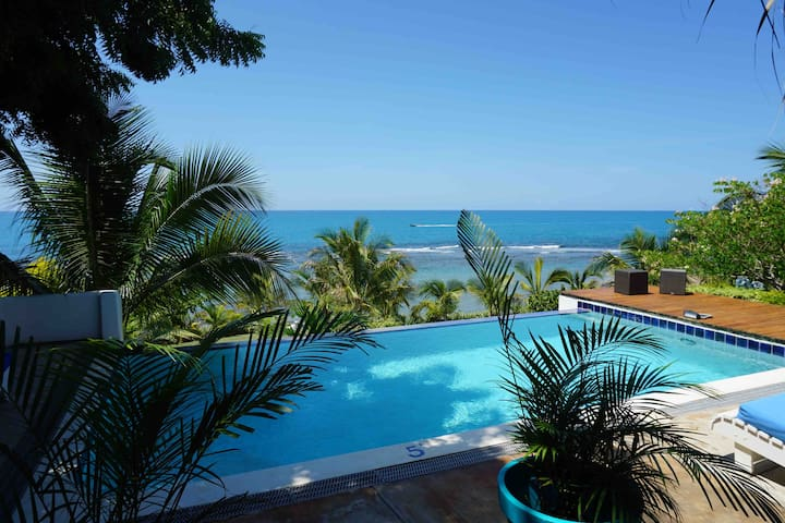 Spectacular villa with 3 staff on his own beach