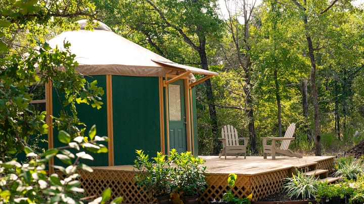 """The Nest""☀Luxury Yurt Cabin☀Private Deck+Bath☀"