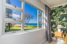 Look out to ocean views from this master suite!