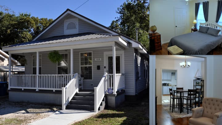 Cottage near Historic District for extended stays!