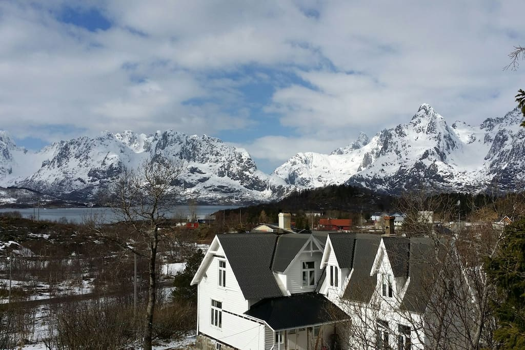 The house has fantastic view and is very private with a big property. Fjord, mountain and ocean view.