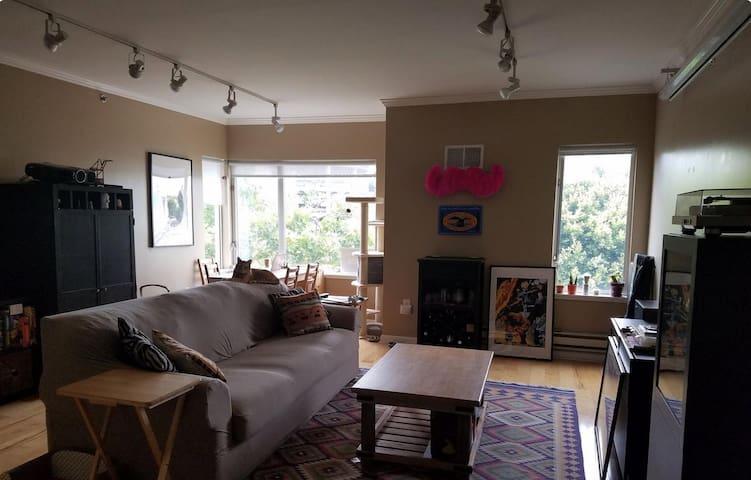 Private room in a cozy apartment near Lake Merritt