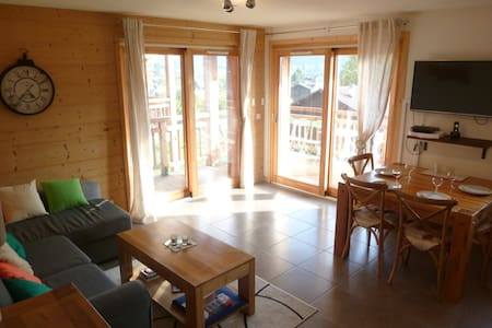Spacious apartment with view over the Grand Massif