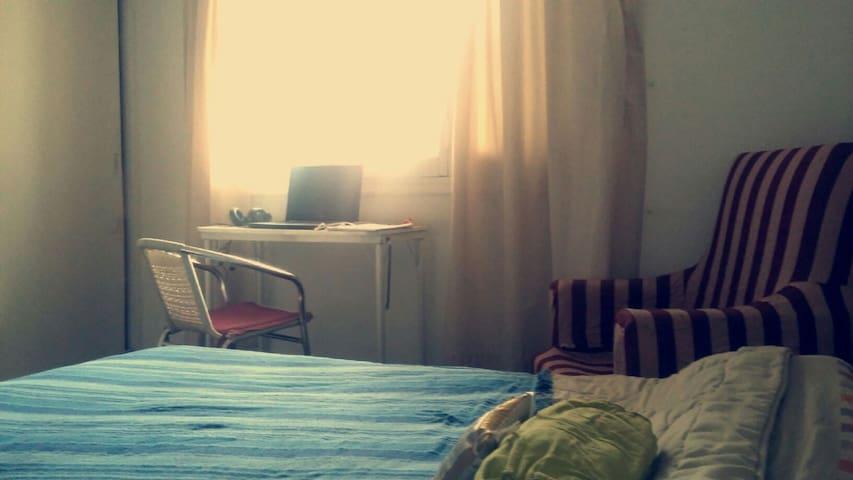 Habitación privada-cama doble,zona Parque Central.