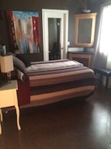 Main Floor Bedroom with PRIVATE Full Bathroom