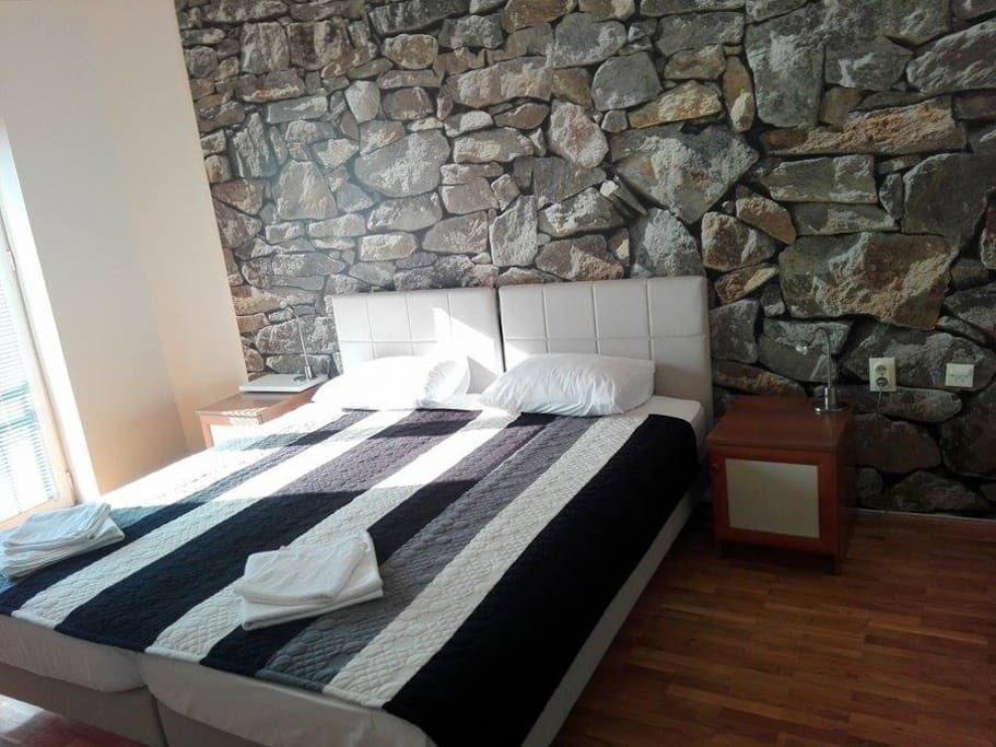 Double room 25 EUR or 35 EUR BB (bed, and breakfast for some extra money)