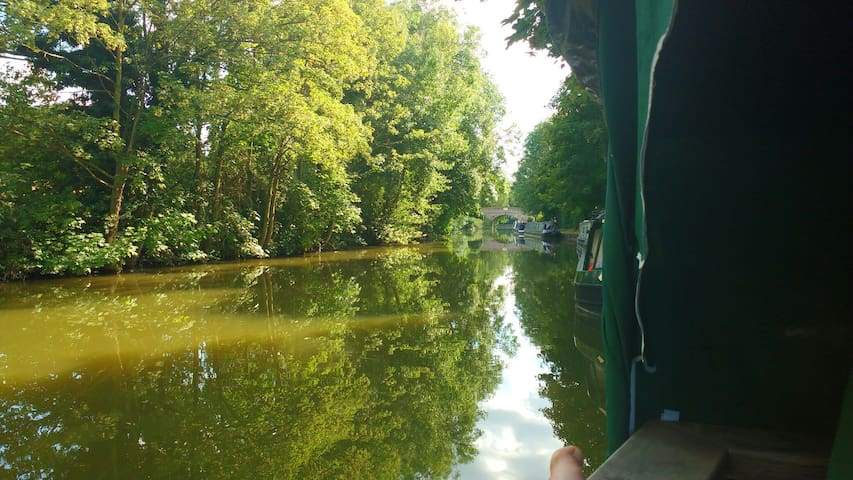 Narrowboat in the Chilterns AONB - Berkhamsted