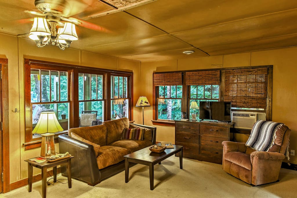 You're sure to love the authentic wood paneling that lines the interior of this home.