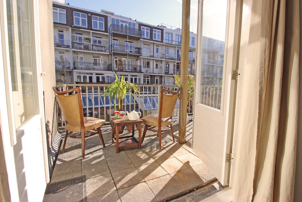 Enjoy a nice cup of coffee or tea on this great balcony.