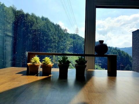 在挪威森林中享用咖啡與大自然