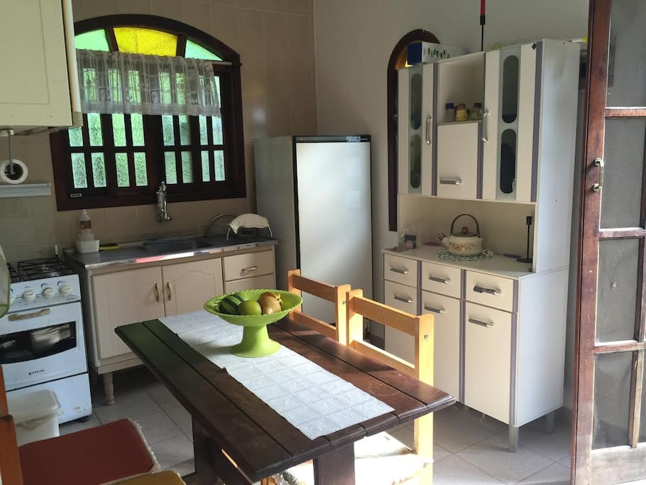 Chalé # 1 Kitchen - Cozinha