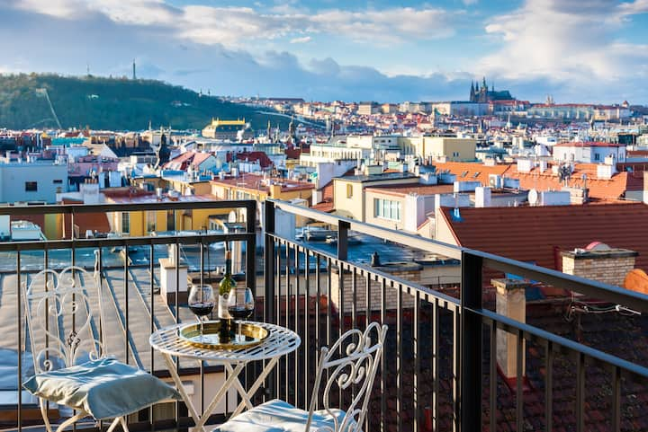 Best possible view in Prague ♛ roofTOP apartment