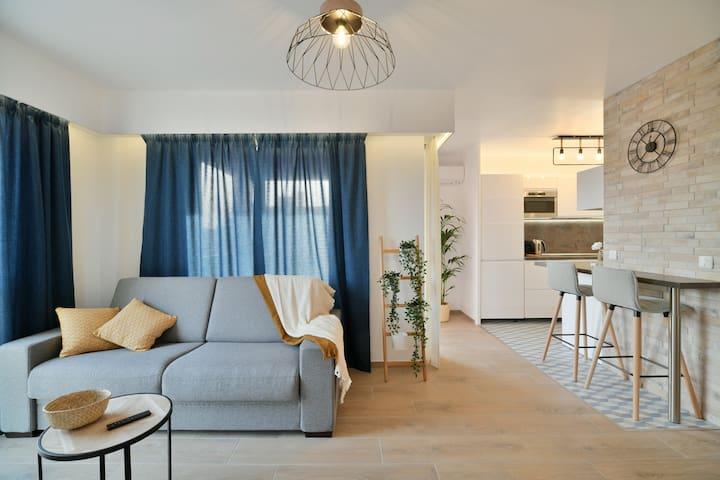 ❤️ Appartement cosy - centre ville 300m de la plage