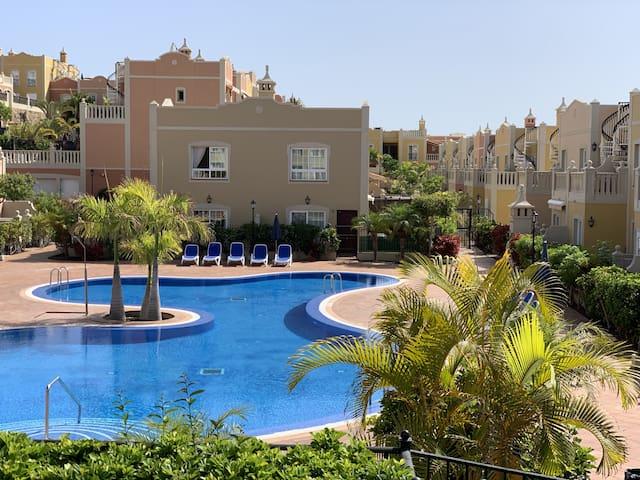 Apartamento Paraiso PalmMar terrasza