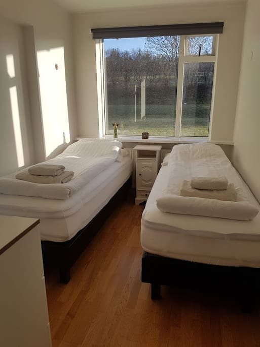 The second bedroom with two 80x200 brand new health beds