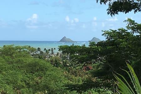 Kailua 1 bedrm view apt near beach - Kailua - Pis