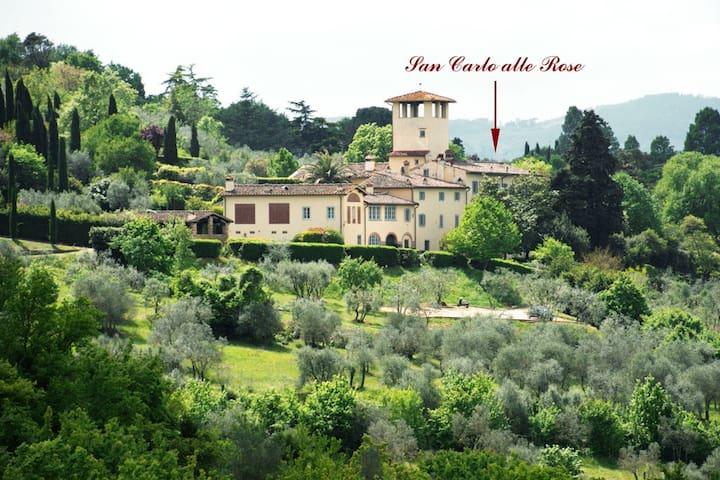 Sancarlo alle Rose Apartment in Renaissance Villa