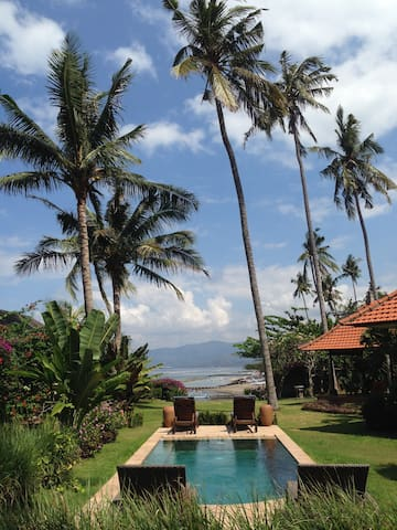 View from Seaview Suites - Pool & Candidasa Bay