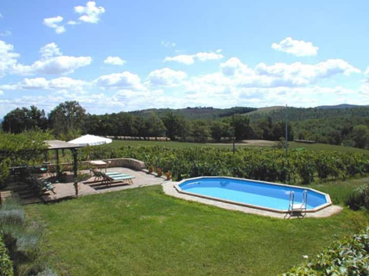 Indipendent Tuscan Villa Siena with Pool (7+1)