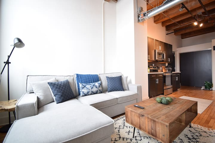 Updated Industrial 2BR Loft | Fifth & Third Ward